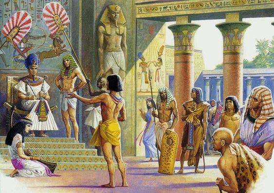 Ancient Egyptian life on the banks of the Nile River ( Society & social pyramid, Home life, Education and Working life )