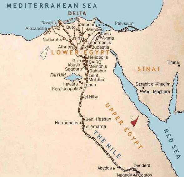 Ancient Egypt Map: Ancient Egyptian Cities That Still Alive