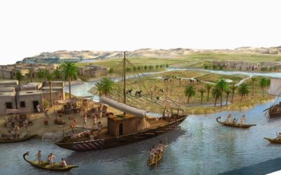 Map with Nile River