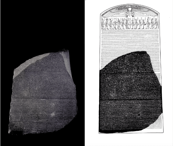 Recreation of the Rosetta Stone