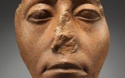 Why do Egyptian statues have broken noses?
