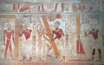 The sacred symbol of the Djed pillar
