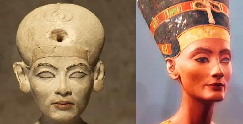 Why is Nefertiti missing an eye?