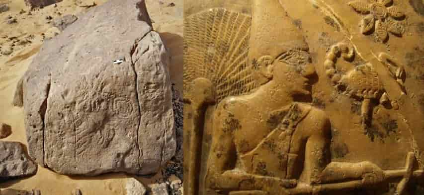 The first border sign in history is in Egypt: The dominions of the Scorpion King