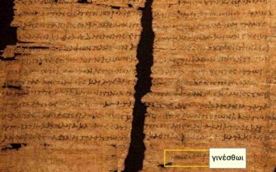 Papyrus document containing signature of Cleopatra