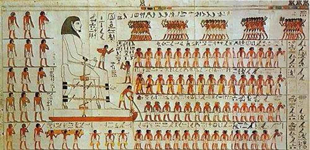 How did the ancient Egyptians drag the stones for the pyramids?