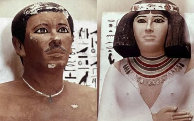 """The """"living"""" statues of Rahotep and Nofret"""